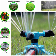 Garden Greenhouse Three Arm Automatic 360 Degree Rotary Spray Head Garden Lawn Sprinkler Irrigation Watering Supplies IC878574