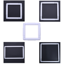 5 Size Plastic Square Frame Hoop Embroidery and Cross Stitch Hoop Set Embroidery Hoops DIY Cross Stitch Craft Sewing Tool(China)