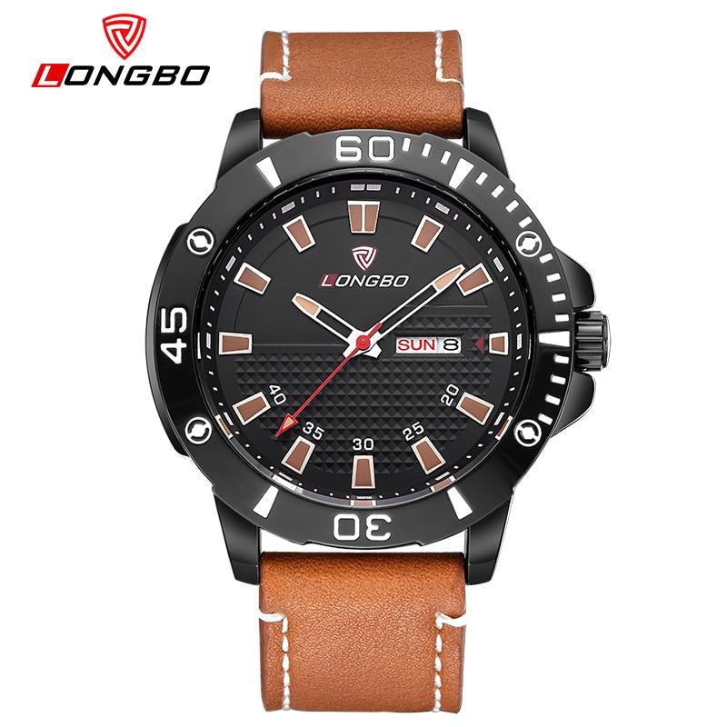 LONGBO Brand Fashion Luminous Watch Men Watch Waterproof Leather Sport Watches Quartz Watch Hour relogio masculino reloj hombre<br><br>Aliexpress