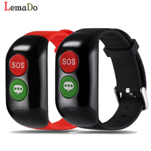 Lemado Smart Wristband Old Man GPS WIFI LBS Positioning Smart Band Device Elder Blood Heart Rate Monitoring SOS Help Smartban