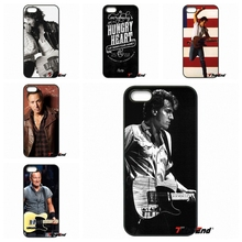 For iPhone 4 4S 5 5C SE 6 6S 7 Plus Galaxy J5 J3 A5 A3 2016 S5 S7 S6 Edge Bruce Springsteen Guitar American Flag Phone Case