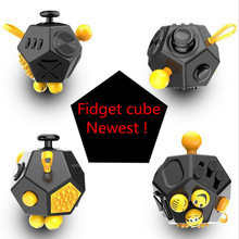 2017 Hot ! Squeeze Fun Stress Reliever Gifts Fidget Cube 2 Relieve Anxiety and Stress Juguet For Adult Fidgetcube Desk Spin Toy(China)