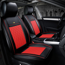 ( Front + Rear ) Luxury Leather car seat covers For Toyota Corolla Camry Rav4 Auris Prius Yalis Avensis SUV auto accessories