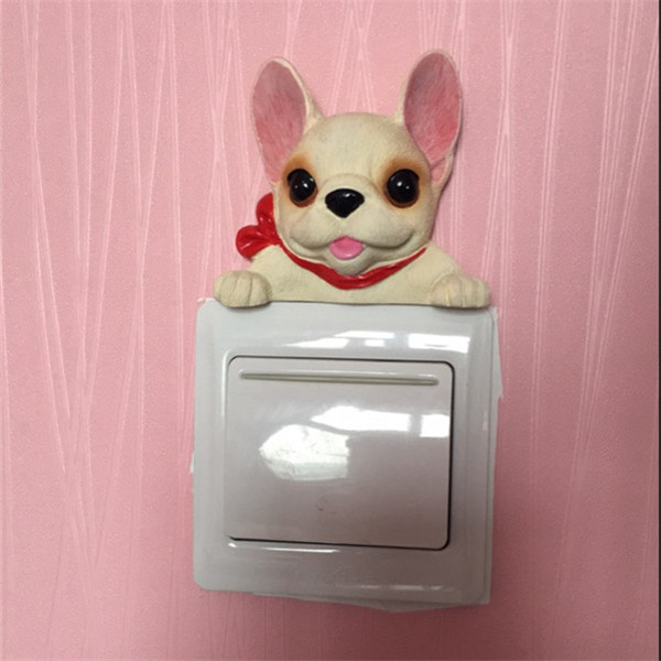 French Bulldog cute puppy dogs resin switch stickers fridge magnets - Buyer's Show 23