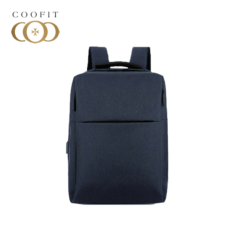 coofit Fashion Casual Backpack For Men Waterproof Business Rucksack Laptop Backpack Travel Backpack With USB Charging Port Cool<br>
