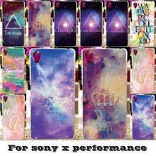 Soft Silicon TPU & Plastic Covers Cases For SONY Xperia X performance F8131 F8132 SONY xperia XP Dora SS 5 inch Cases Sky covers