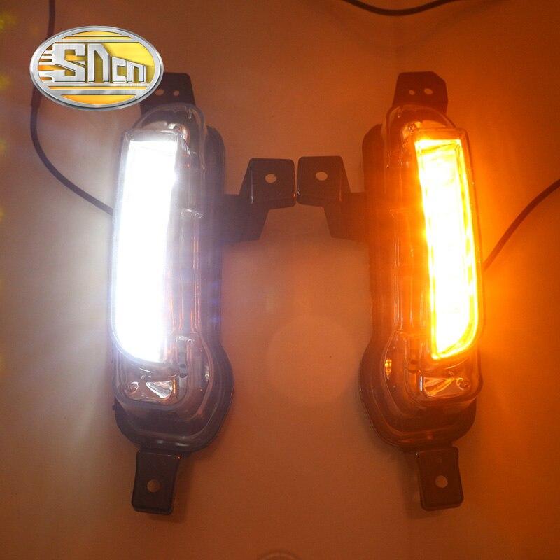 SNCN Yellow Turning Function Relay Car Accessories Auto Daylight LED Daytime Running Light LED DRL For Suzuki Vitara 2015 2016<br>