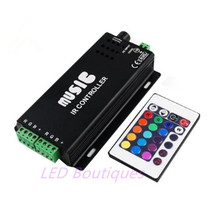 best price 1 pcs DC12-24V 24 Keys music controller IR remote RGB controller