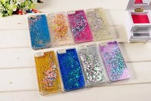 1PCS Luxury Discolor Diamond Twinkle Glitter Star Flowing Liquid Water Case for iPhone SE 5 5s Hard Plastic Covers Phone Cases