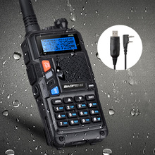 BAOFENG UV-5X UHF+VHF Dual Band/Dual Watch 2 Way Radio FM Walkie Talkie +Tokmate New Programming Cable Compatible with WIN10 MAC
