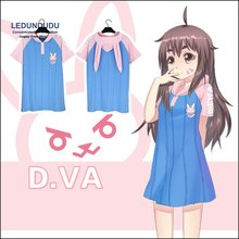 Fashion games D.va Cosplay Costumes DVA Rabbit Women Loose Fancy Party Dress Short-Sleeve Summer T-shirts