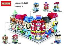 HSANHE Street Market Beauty Salon Wine Mini Diamond Building Block Toy 6pcs/SET