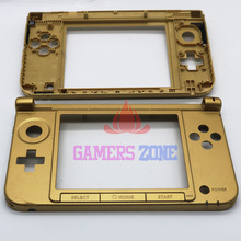 Used Gold For Nintendo 3DS XL Replacement Hinge Part Top Middle Shell / Housing for Zelda Limited Edition