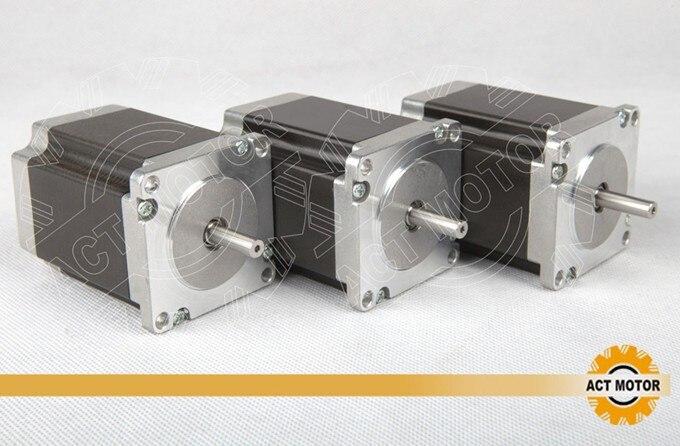 ACT Motor 3PCS Nema23 Stepper Motor 23HS8430 4-Lead 270oz-in 76mm 3.0A Bipolar CE ISO ROHS CNC US CA UK DE IT FR SP BE JP Free<br>
