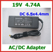 50pcs AC Power Adapter 19V 4.74A 90W DC 6.5x4.4mm Power Supply r Charger with AC Cable for Sony Laptop High Quality
