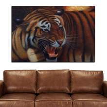 Wall Art, Wall Decor, Wall Painting The tiger's head Digital oil Painting Print, Nice Painting for wall picture no frame(China)