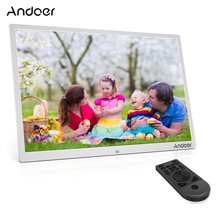 "Andoer 17"" LED Digital Photo Frame 1080P Advertising Machine Support Play Aluminum Alloy w/Remote Control Christmas Gift"