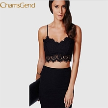 Durable hot crop top women Sexy Sheer Lace Condole camisoles belt Strap Lingerie Tops Lace women Translucent Underwear(China)