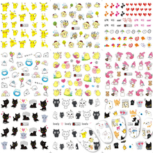 48 Designs Mixed Colorful Cartoon Sticker Nail Art Water Transfer Sticker Sets DIY Beauty Polish Decals Tips Tools CHA1321-1368