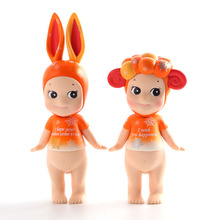 2 pcs/set Sonny Angel Cupid doll artist series Happiness snow rabbit sheep furnishing articles for Christmas Toys For Kids(China)