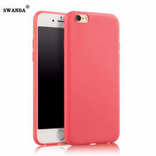 SWANDA Lovely Candy Color Silicone TPU Gel Soft Case For iPhone 5 5s 6s 6 7 7plus Rubber Soft Back Skin Shockproof  Phone Cover