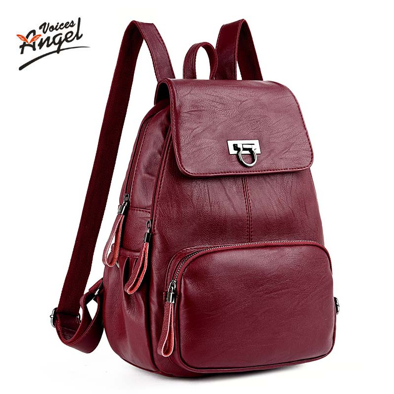 womens backpacks Genuine Leather students school bags teenagers girls small backpacks women travel bag mochila bolsas femininas<br>
