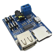 2 pcs lot with power amplifier TF card U disk MP3 decoder player module Mp3 decode board(China)