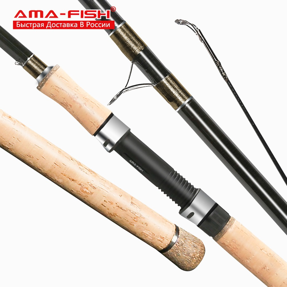 AMA-Fish ARES IM6  Primary Match Spinning Rod 3.9m Lure Rod 3 Sections Carbon Rods 3-25g Spinning Fishing Rod M Action<br>