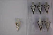 125 grain fit 9mm diameter outer wearing broadheads arrow heads and tip mainly used in bamboo/wooden arrows 12pcs/lot
