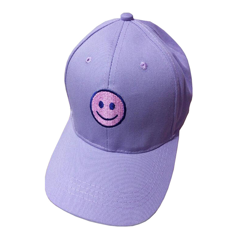 Baseball Cap Girls Boys Fashion Cotton Embroidery Smile Face Adjustable Hats Snapback Summer Casual Hats Hip Hop Cap #J21 (1)