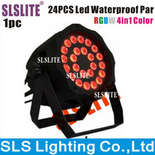 24pcs rgbw led par 64 can outdoor led par light 4in1 outdoor disco light ip65 rgbw color lighting par led 24 x 10