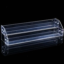 Mordoa Lipstick Jewelry Nail Polish Rack Display Holder 2 Tier New Style Makeup Cosmetic Clear Acrylic Organizer Makeup Shelf(China)