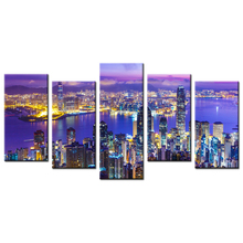 Wall Art Canvas Frameless The City Night View Print Canvas Painting Perfect Poster Fashion Wall Modular Picture For Home Decor(China)