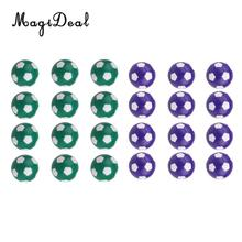 MagiDeal Table Soccer Foosballs Replacements Mini Plastic Soccer Balls - Set of 24 - Purple & Green(China)