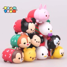 10PCS/LOT TSUM TSUM Cute Mini Winnie Mickey Mouse Stitch Action figure Toy Vinyl Toy Tsum Tsum Kids Toy for Christmas(China)