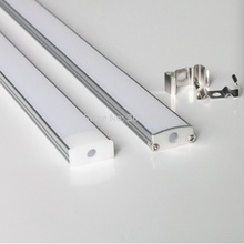 40m (40pcs) a lot, 1m per piece, led aluminum profile for led strips with milky diffuse cover
