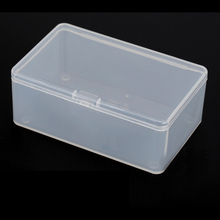 1PC Store Small Clear Plastic Transparent With Lid Storage Box Coin Collection Container Case High Quality