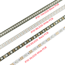 5V WS2812b Pixels Led strip 1M/2M/3M/4M/5M Addressable individual Dream Magic color 2 colors PCB Holiday house decoration UR