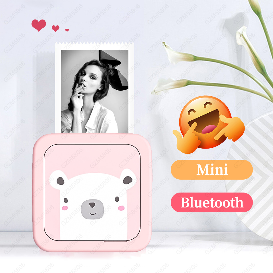 2019 New Birthday Gifts for Women Children Kids Boy Girl Friend Photo Mini Bluetooth Printer Wireless Thermal Pocket Printer title=
