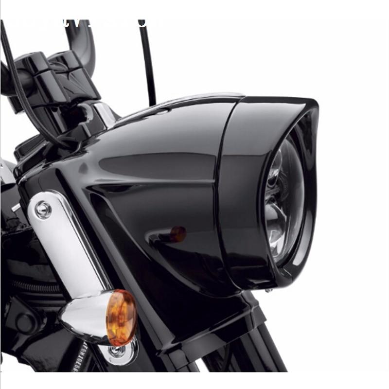 """7/"""" Chrome HEADLIGHT TRIM RING VISOR Fit For HARLEY FLH FLHS FLHT ROAD KING NEW"""