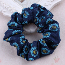 Free Shipping 2016 New 10pcs/lot Girls Denim Flower Elastic Headband Printed Hair Accessories For Kids Headwear Headwrap(China)