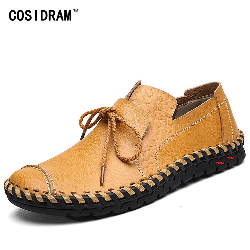 Spring Autumn Moccasins Men Flats Soft Bottom Leis...