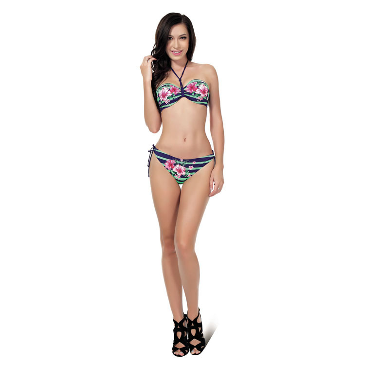 2017 Special Design Of High Quality Women Swimsuit Bathing Suit Swimwear Boho Floral Bandage Bikini Set E148 <br><br>Aliexpress