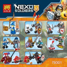 LELE new product building blocks bricks NEXO KNIGHTS Super Heroes Series 8Pcs Action Figures Compatible legoed toys for children