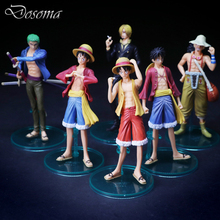 Anime One Piece Luffy Action Figure Toys 6Pcs/set Cool Zoro Usopp Sanji Collectible Model Toy Classic One Piece Figure Toys