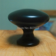 Diameter 30mm 20pcs/lot black Knobs Cabinet Hardware Pull Handle free shipping(China)