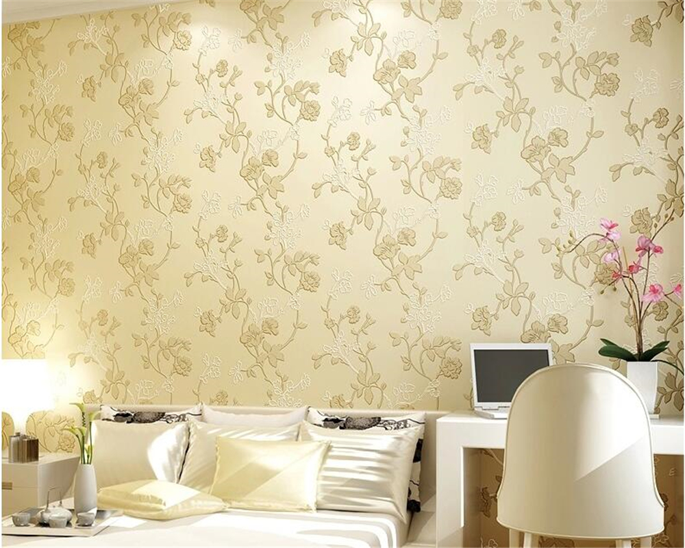 beibehang nonwoven fabric wall paper living room bedroom video TV wall papel de parede modern warm pastoral 3d wallpaper tapety<br>
