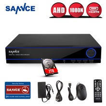 SANNCE Home Surveillance System 16CH Full 960H Security HI3531 DVR HDMI 1080N Hybrid CCTV NVR HVR Video Recorder 16 Channel 2TB - official store