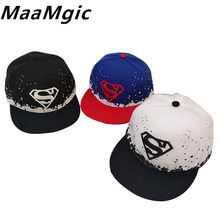 Cool! Baseball Cap Baby Superman Hat Adult And Child Snapback Hat For Boy Snapback Cap Baby Hip Hop Hats Unisex Sun Cap(China)