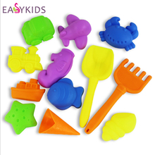 12pcs/lot Playdough Mold Tools model Polymer Clay Plasticine Mold Tools Set Kit Sand Beach Toy Kids Traning Toy Educational Sand